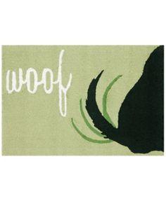 Liora Manne Front Porch Indoor/Outdoor Woof Green Area Rug | macys.com