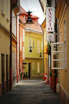 Old Town street, Győr, Hungary Places Around The World, The Places Youll Go, Places To Go, Around The Worlds, Heart Of Europe, Beautiful Places To Visit, Amazing Places, Street Photo, World Traveler
