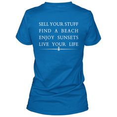 Sell Your Stuff & Live Your Life Ladies T-Shirt