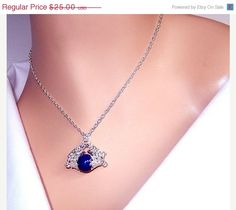 ON SALE 25 OFF Lapis byzantine chainmaille necklace  by NezDesigns, $18.75
