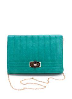 stitch leatherette clutch $31.10