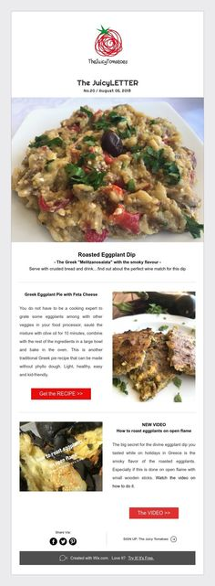 "Roasted Eggplant Dip - The Greek ""Melitzanosalata"" with the smoky flavour - Serve with crusted bread and drink.find out about the perfect wine match for this dip Roasted Eggplant Dip, Eat Greek, Phyllo Dough, Feta, Chicken, Baking, Healthy, Recipes, Kitchens"