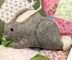 Bunny Pyjama Case  http://bustleandsew.com/store/softies/