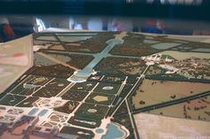 Miniature model of the grounds of Versailles on display inside the palace.