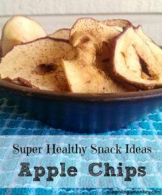 Healthy Snack Ideas: Super Simple Apple Chips Recipe ~ Schooling a Monkey