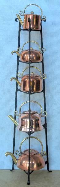 J. Getzan Dollhouse Miniature Copperware Miniature Copper Pots Pans plant, miniatur kitchen, kitchen copper, copper pot, copper wash, copper thing, kitchen islands, dollhouse miniatures, dollhous miniatur