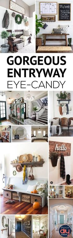 Unbelievable Gorgeous photos of entryway ideas for your home decor! The post Gorgeous photos of entryway ideas for your home decor!… appeared first on Home Decor For US . Apartment Entryway, Entryway Decor, Entryway Ideas, Entrance Ideas, Unique Home Decor, Cheap Home Decor, Vestibule, Home Decor Accessories, Home Remodeling