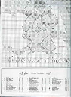 'Follow Your Rainbow' Care Bears cross stitch  4/5