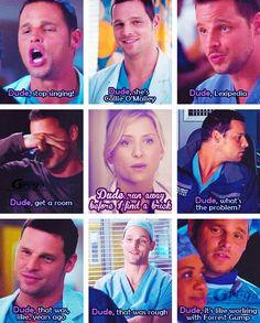Dude Alex Karev and Arizona Robbins   Grey's Anatomy funny facts