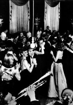 Lieutenant John F. Kennedy dancing at a ball celebrating the end of World War II ~ 1945 American Presidents, Us Presidents, American History, History Icon, John Kennedy, Caroline Kennedy, John Fitzgerald, Shall We Dance, Rhyme And Reason