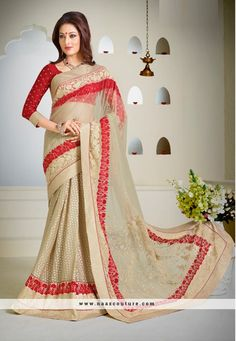 Amusing Brasso And Net Party Wear Saree
