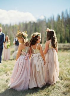 Buy A line Blush Pink Flower Girl Dresses with Sash Gold Top Dresses for Kids in uk. Find the perfect flower girl dresses at PromDress. Our flower girl dresses come in a variety of styles & colors including lace, tulle, purple & gold Flower Girl Dresses Country, Sequin Flower Girl Dress, Pink Flower Girl Dresses, Wedding Flower Girls, Bohemian Flower Girls, Beach Flower Girls, Flower Girl Crown, Flower Crowns, Flower Petals