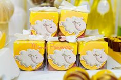 Lamb Themed Baby Shower Favors ~ Vintage lamb themed neutral baby shower