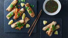 Sajgonki z mięsem mielonym - przepis • Kuchnia Lidla Spring Rolls, Fresh Rolls, Tacos, Mexican, Meat, Chicken, Ethnic Recipes, Food, Meal