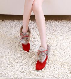 Okay, I don't wear heels, but these are kind of fun! :)    Red hight heel boots leather with feather for any by Creativesugar, $92.00