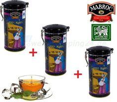 3 x Mabroc Schwarzer Tee 1001 Nacht Metalldose 600g. (33,33€ pro 1kg)