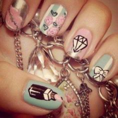cute girly nails