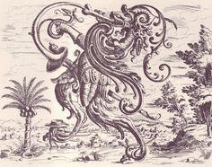 Detail (1/6) from an engraving in Christoph Jamnitzer's 'Neuw Grottessken Buch,' 1610.