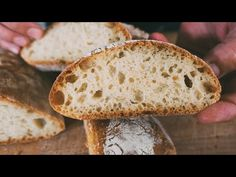 Pomalý italský chléb - snadný italský recept na domácí chléb, křupavý a měkký s TITULKY - YouTube Mary's Kitchen, Pain Au Levain, Italian Bread, Biscotti, Italian Recipes, Food And Drink, Tasty, Homemade, Baking