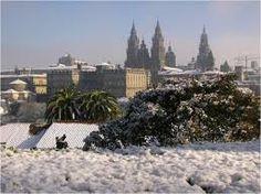 Camino de Santiago in Winter. Santiago de Compostela