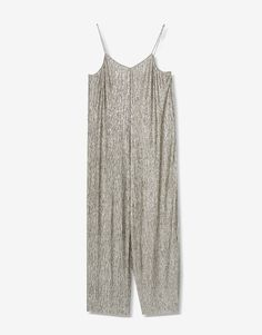 Metallic shimmer jumpsuit - Clothing - New - Woman - PULL&BEAR United Kingdom