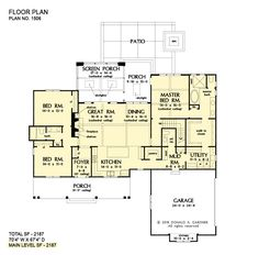 Could we add another bedroom to the guest side? Love the plan, but need 3 bedrooms on the main floor! Master Closet / Utility Room Connection - Don Gardner House Plans New House Plans, Dream House Plans, House Floor Plans, Loft Floor Plans, Basement Floor Plans, The Plan, How To Plan, Urban Farmhouse Designs, Board And Batten Exterior