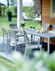Table de jardin teck et inox Thales naturel | Mygarden | Table de ...