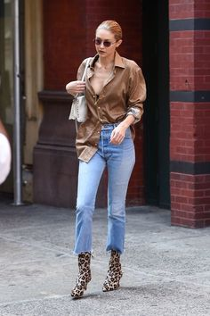 It's boot season, and this is the way that celebs are wearing them with jeans right now.