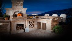 How great would it be to have this custom outdoor wood burning brick oven in your backyard! You can get it from The Outdoor Pizza Oven Company (Outdoor Wood Cooking) Brick Oven Outdoor, Pizza Oven Outdoor, Outdoor Cooking, Outdoor Barbeque, Outdoor Bars, Backyard Kitchen, Backyard Patio, Patio Grill, Foyers