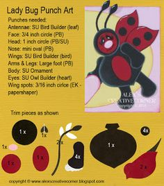 Alex's Creative Corner: Lady Bugs Valentine punch art instructions