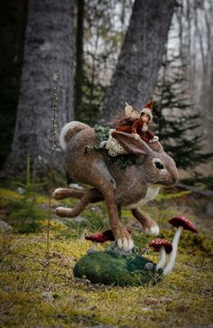 Handcrafted one-of-a-kind soft sculpture Faeries
