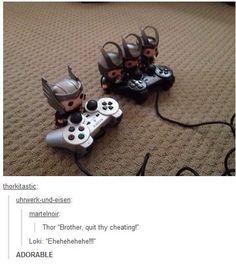 Thor and Loki XDD cute!