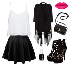Untitled #51 by athenark on Polyvore featuring polyvore, fashion, style, Alice + Olivia, Soaked in Luxury, Essie and clothing
