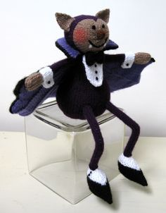 Alan Dart Knitting Pattern: Vampire Bat