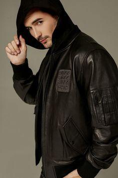 Sweatshirt Hooded Sheepskin Biker Moto Jacket Boys Leather Jacket, Moto Jacket, Hooded Sweatshirts, Biker, Raincoat, Stylish, Casual, How To Wear, Jackets