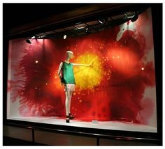 Summer Window Displays | Amazing use of colour here. I love how the colours all bleed together ...