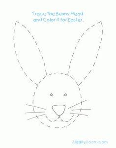 Easter Rabbit Tracing Worksheet for Easter Activity | Ziggity Zoom