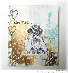 She was... Art Journal Spread by Susanne