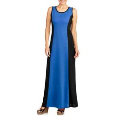 Walmart faded glory henley maxi dresses