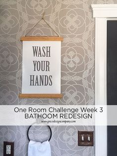 Small Space Bathroom Redesign – One Room Challenge™ WEEK 3