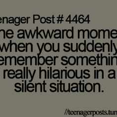 This always happens to me at church.