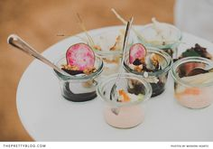 Perfect wedding canapes | Photographers: Modern Hearts |