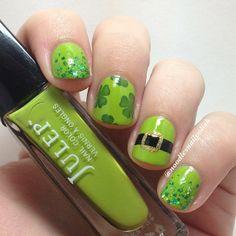 noodlesnailpolish St. patrick's day #nail #nails #nailart