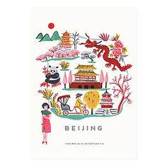 Beijing Map Print - Ayang Cempaka