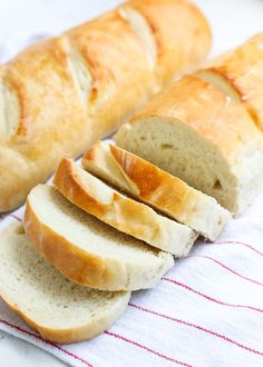 This is the BEST homemade french bread recipe. So easy to make and comes out golden and crispy on the outside, while remaining soft and chewy on the inside.