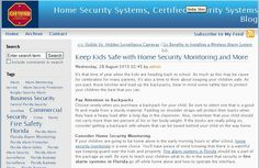 If your children are going to be home alone in the early morning hours or after school, home security monitoring is a wise choice. You'll have peace of mind knowing that there is a watchful eye keeping guard over the kids and property