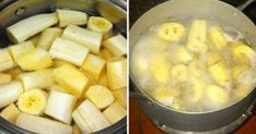 Boil Bananas Before Bed - Drink The Liquid and eat the boiled fruit. Improves sleep and good for health - 1 organic banana with peel, water, cinnamon (optional) - boil for 10 mins then consume before bed. Banana Tea, Banana Drinks, Health Remedies, Home Remedies, Natural Remedies, Banana Before Bed, Healthy Life, Healthy Living, Natural Treatments
