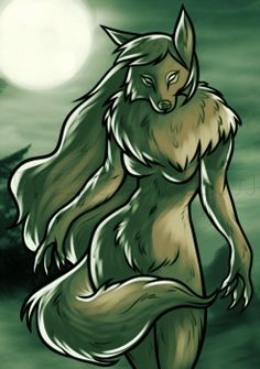 How to Draw a Female Werewolf, Step by Step, Werewolves, Monsters, FREE Online Drawing Tutorial, Added by Dawn, October 10, 2013, 9:27:24 am