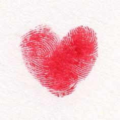 Thumbprint heart