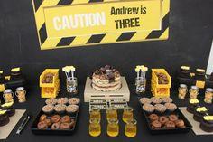 Boys Construction Themed Birthday Party Dessert Table